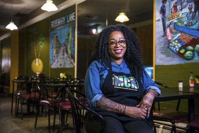 Christine Pattison came to Manitoba from Jamaica when she was 18. 'Talk about culture shock,' says the owner of Miss Christine's Kitchen.  (Mikaela MacKenzie / Winnipeg Free Press)