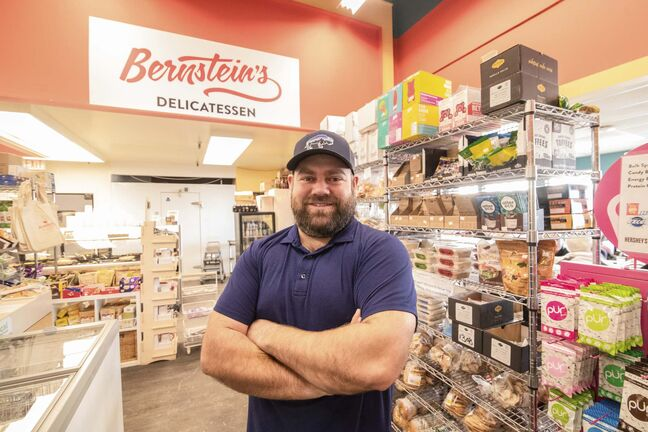 MIKE SUDOMA / WINNIPEG FREE PRESS</p><p>Aaron Bernstein inside Bernstein's Delicatessen at 1700 Corydon Ave. The family-owned and operated deli was opened as a grocery store in February 1985.</p>