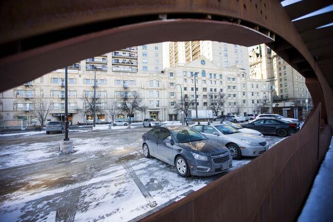 A surface parking lot at Assiniboine and Main currently operated by the Friends of Upper Fort Garry, where an interpretive centre was supposed to be built.
