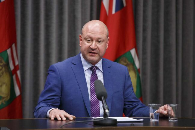 Chief provincial public health officer Dr. Brent Roussin reminded Manitobans to avoid close prolonged contact with other people and to stay home if possible. (Mike Deal / Winnipeg Free Press files)</p>
