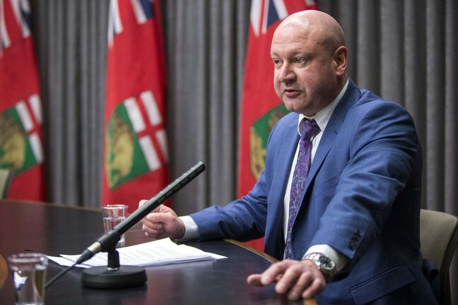 Dr. Brent Roussin, chief provincial public health officer, has had to make some hard decisions over the past week. (Mikaela MacKenzie / Winnipeg Free Press)