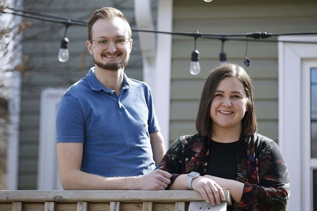 Newlyweds Janelle and Chris Malkiewicz married in September and see their shared isolation as a kind of marriage boot camp.</p>