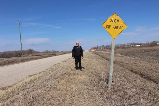 Supplied </p><p>Gord Mackintosh has been on the campaign trail in the past, but this was his first time appreciating all the signs Manitoba has to offer. </p>