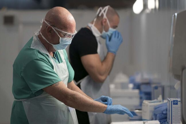 Jon Super / The Associated Press</p><p>Access to PPE is an urgent issue for health workers.</p>