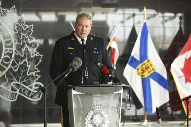 RCMP Chief Supt. Chris Leather said the force was in the process of preparing an alert when the gunman was located and shot. (Riley Smith / The Canadian Press files)