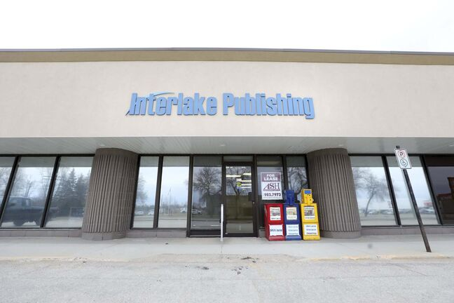 RUTH BONNEVILLE / WINNIPEG FREE PRESS</p><p>Local - Community Papers close</p><p>Photo of Interlake Publishing office in Stonewall which has closed its doors. Papers include: Interlake Spectator, The Selkirk Journal, Stonewall Argus & Teulon Times.</p></p><p>April 28th, 2020</p>