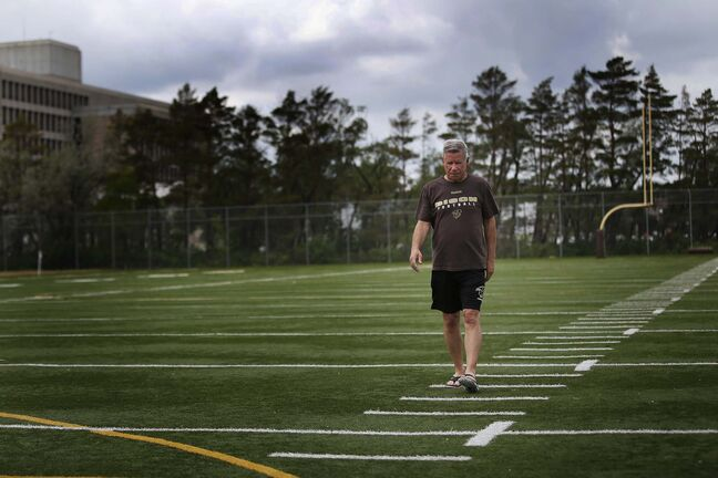 University of Manitoba Bison football coach Brian Dobie says the cancellation means it will be almost two years between games for many players. (John Woods / Winnipeg Free Press)</p>
