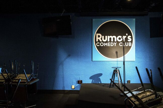 MIKAELA MACKENZIE / WINNIPEG FREE PRESS</p><p>Rumor's Comedy Club, which recently re-opened with COVID-19 measures in place, in Winnipeg on Tuesday, June 9, 2020. For Doug Speirs story.Winnipeg Free Press 2020.</p>