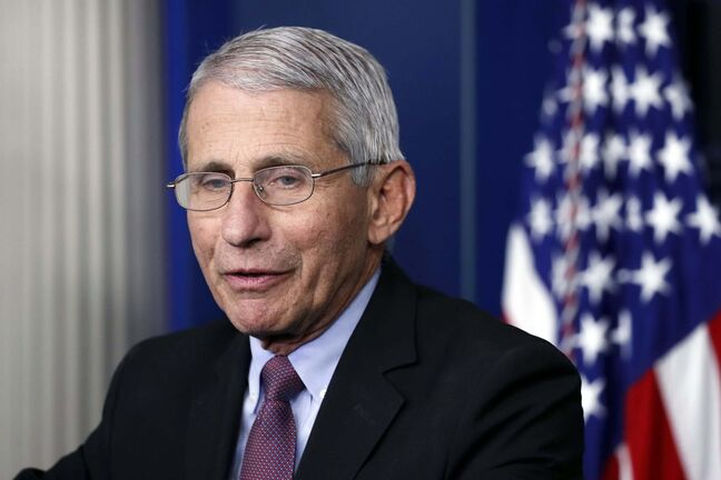 U.S. infectious diseases expert Dr. Anthony Fauci says we will see the second wave when hospital admissions for COVID-19 increase. (Alex Brandon / The Associated Press files)