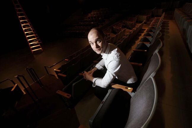 Thomas Morgan Jones, artistic director at Prairie Theatre Exchange, says pandemic restrictions would have allowed only 50 people to attend each showing. (John Woods / Winnipeg Free Press)