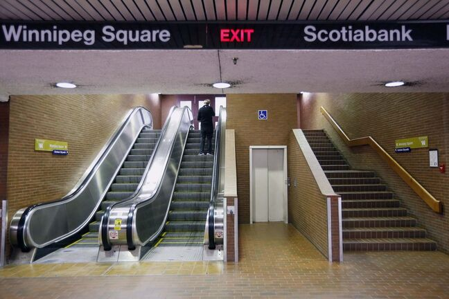 Barrier-free access to the concourse also depends on elevator access being available at commercial properties at the intersection, and is limited to business hours.