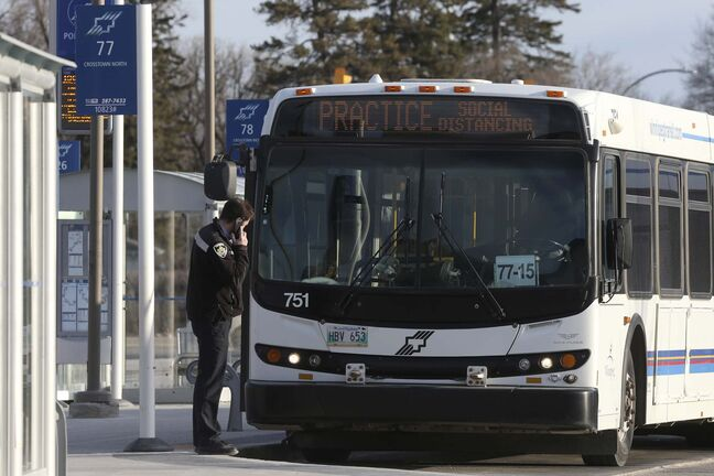 The province would have to kick in as much as $65 million if it takes federal money to help Winnipeg Transit. (Shannon VanRaes / Winnipeg Free Press files)