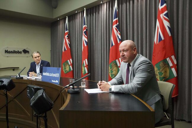 Health Minister Cameron Friesen, who joined Roussin at the news conference, announced that Manitoba COVID-19 press briefings will now be reduced to once a week starting this week.