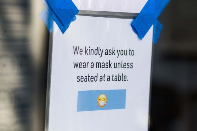 """Some stores """"require"""" marks, some """"advise"""" the use of masks and others seem to leave the matter to the whims of customers."""