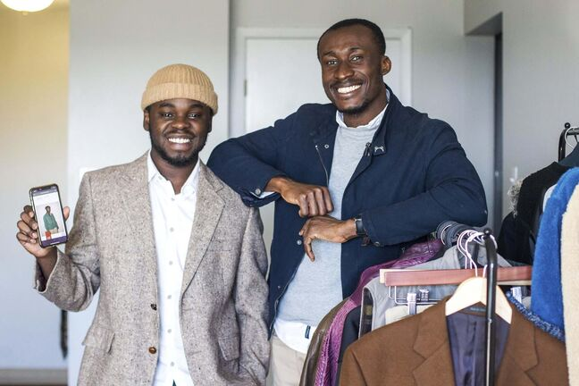 Thriftsome co-founders Oghosa Ogiemwonyi (left) and Joshua Akom.</p>