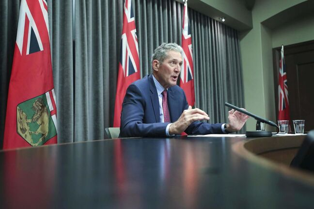 RUTH BONNEVILLE / WINNIPEG FREE PRESS</p><p>LOCAL - Pallister</p><p>Premier Brian Pallister addresses the media about the throne speech in room 68, Legislative Building, Thursday,</p><p>Sept 24th,, 2020</p>