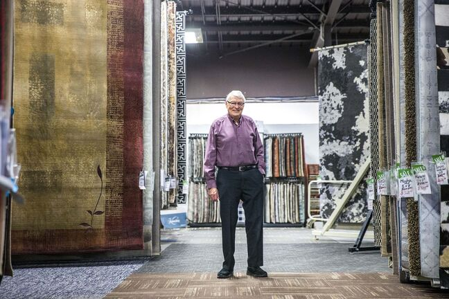 Bill Knight's career in flooring dates back to 1962, when he was fired from selling trucks at 1:10 p.m. and on the job selling flooring at 2 p.m. the same day. He started his eponymous firm in 1970.</p>