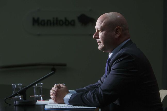 On Tuesday, Dr. Brent Roussin, chief provincial public health officer, reported seven deaths due to COVID-19. (Mike Deal / Winnipeg Free Press)</p>