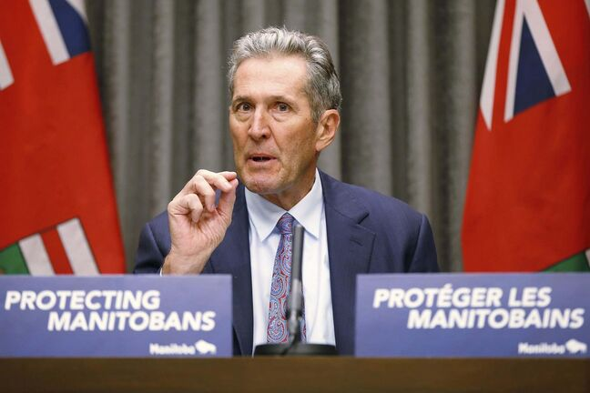 JOHN WOODS / WINNIPEG FREE PRESS FILES</p><p>Manitoba Premier Brian Pallister</p>