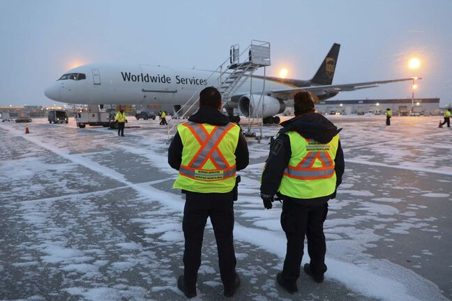 CBSA</p><p>Canada Border Services Agency shipments of initial doses of COVID-19 vaccines arrive in Winnipeg.</p>