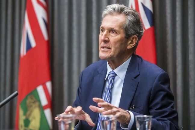 MIKAELA MACKENZIE / WINNIPEG FREE PRESS</p><p>Premier Brian Pallister speaks about the vaccine rollout at a press conference at the Manitoba Legislative Building in Winnipeg on Wednesday, Jan. 6, 2021. For Carol/Larry story.</p><p>Winnipeg Free Press 2020</p>