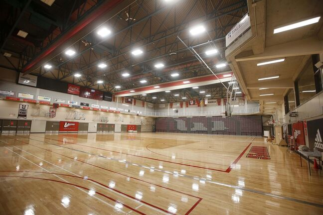 JOHN WOODS / WINNIPEG FREE PRESS FILES</p><p>University of Winnipeg Wesmen gym is photographed Thursday, October 15, 2020. Canada West has voted to cancel university basketball, volleyball, hockey, wrestling and women's 7's rugby season due to COVID-19.</p>