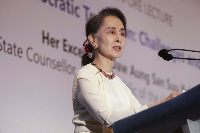 Don Wong / The Associated Press FILE</p><p>Myanmar's leader Aung San Suu Kyi was arrested during a military coup.</p>