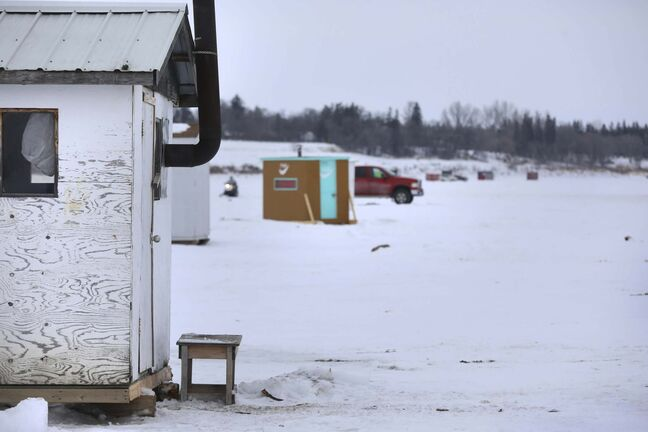 Ice fishers need to keep a door or window open if using a propane heater in a shack or tent, say local guides. (Ruth Bonneville / Winnipeg Free Press)