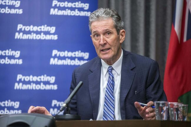 Premier Brian Pallister's government initially refused to limit socializing between households and resisted enforcing mask use
