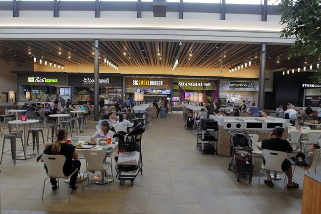 BORIS MINKEVICH / WINNIPEG FREE PRESS RESTO - The food court at Outlet Collection Winnipeg. Interior has lots of room and great light from the windows. ALSION GILLMOR STORY. May 15, 2017</p>