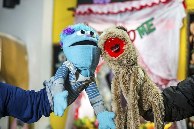 MIKAELA MACKENZIE / WINNIPEG FREE PRESS</p><p>Puppets on the set of the Good Will Social Club virtual variety show.</p>