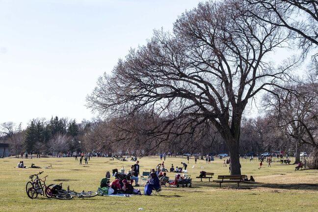 Daniel Crump / Winnipeg Free Press.</p><p>Now more than ever, Assiniboine Park is a gathering place for people to enjoy warmer weather after being cooped up by the pandemic.</p>