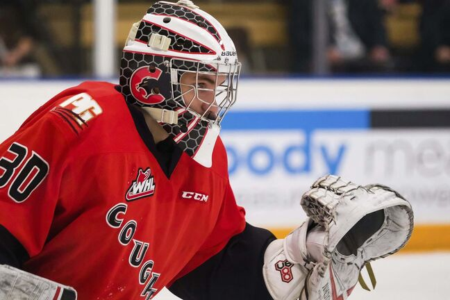 Prince George Cougars goalie Tyler Brennan of Winnipeg is one of only 18 goaltenders to be chosen in the first round of the WHL draft. (Daniel Crump / Winnipeg Free Press files)