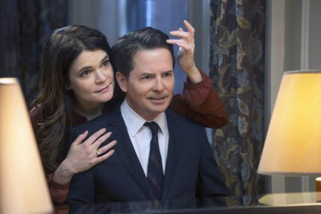 Fox and Betsy Brandt, who plays his wife on the Michael J. Fox Show.