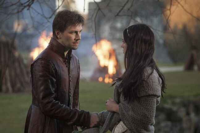 Reign stars Torrance Coombs, left, and Adelaide Kane as Mary, Queen of Scots.