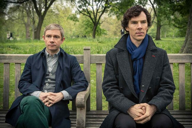 Rabid fans like to imagine a more-than-friendship relationship between Sherlock's Dr. Watson (Martin Freeman, left) and Sherlock Holmes (Benedict Cumberbatch).