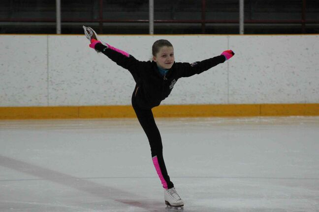 Eleven-year-old figure skater Emma King will compete at the Manitoba Games for the first time next month. Her coach said spectators should look forward to her high skill and springy jumps.