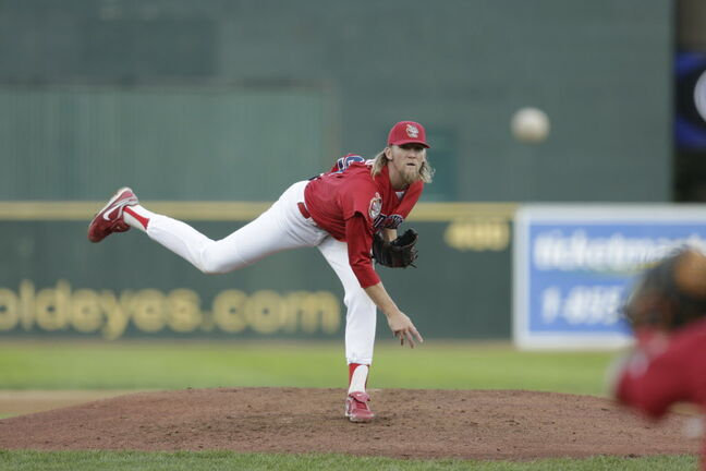 Goldeyes starter Matt Jackson allowed 10 hits, three runs and struck out five in 7 1/3 innings.