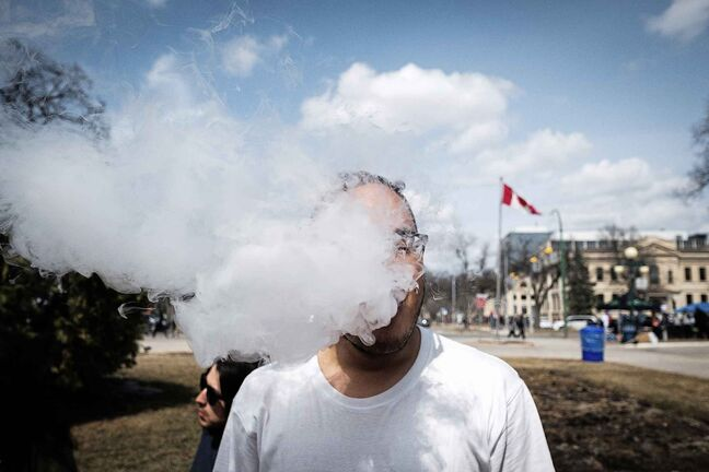 The provincial government denied the 4/20 event request because smoking marijuana in public is illegal. (Daniel Crump / Winnipeg Free Press files)