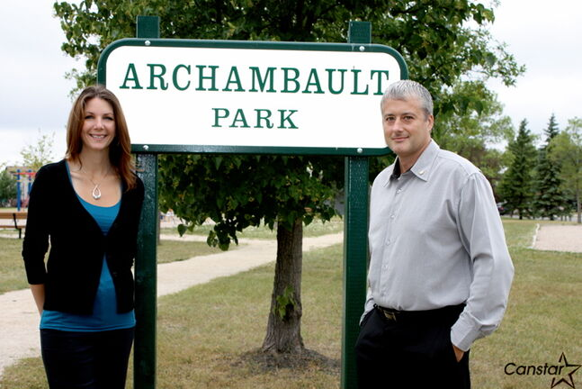 Regan (left) and Geoff Archambault are donating $120,000 of their own money to make improvements to Archambault Park, formerly Harbour View South Park.