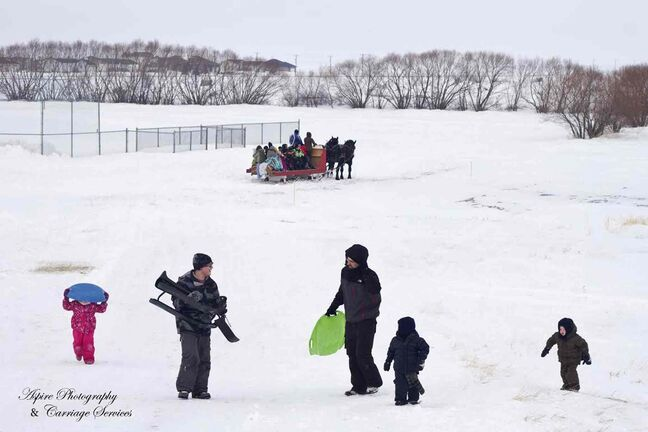 Sleigh rides and a toboggan slide are available for some family fun at the St. Francois Xavier Winter Fun Day on Feb. 16.