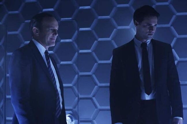 Clark Gregg (left), Brett Dalton and Cobie Smulders (below) star in Marvel's Agents of S.H.I.E.L.D., which premières Sept. 24 on ABC and CTV.