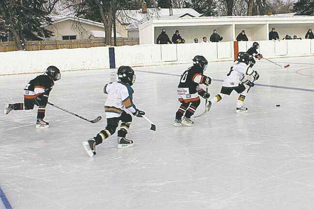 In this 2013 file photo, participants are seen on the ice at last year's NGCC Winter Chill Classic outdoor hockey tournament.