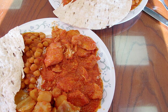 The butter chicken platters provide more than enough food, with a tasty serving of vegetables and chickpeas as good as the meat itself.