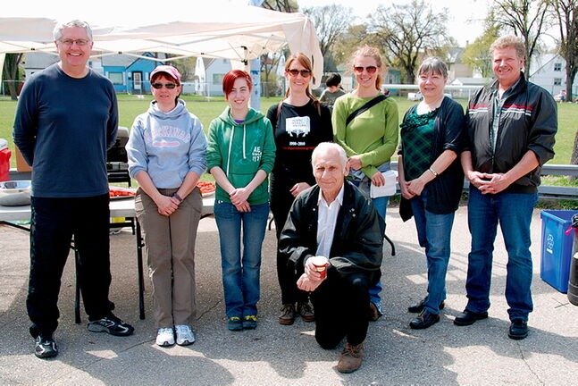 St. Johns MLA Gord Mackintosh and the organizing committee of the 2012 Spring Clean-Up.