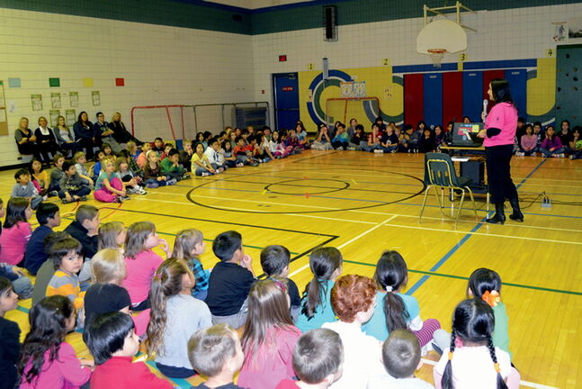 Students at Collicutt School learning that it's cool to be kind.