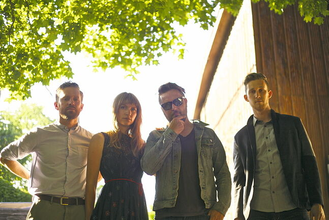 Federal Lights (l-r: Rob Mitchell, Jodi Roy, Jean-Guy Roy, David Pankratz) is throwing an album release party at the West End Cultural Centre on Sept. 12.