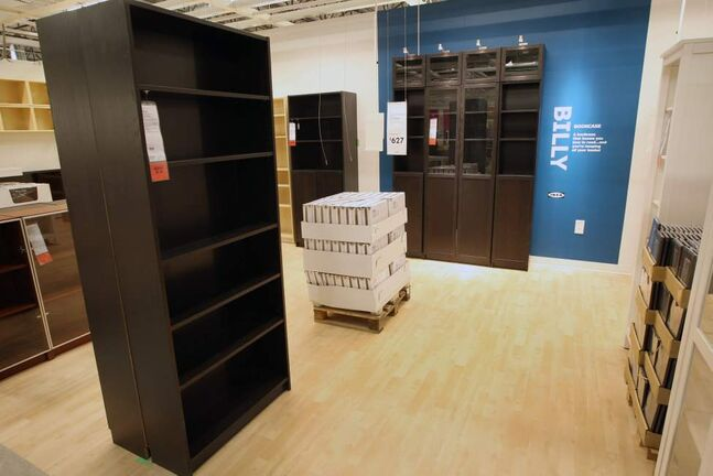 Famous Ikea Billy bookcases in the new Ikea Winnipeg Wednesday. (JOE BRYKSA / WINNIPEG FREE PRESS)
