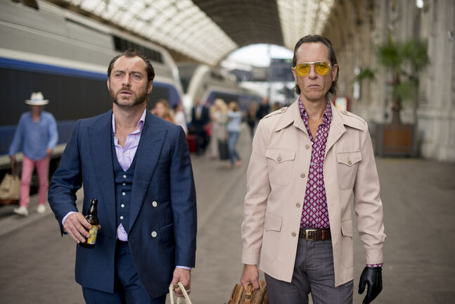 Jude Law, left, and Richard E. Grant are up to no good.