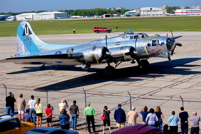 This Boeing B-17 bomber 'Flying Fortress,' also known as 'Sentimental Journey', landed in Winnipeg on Aug. 12, staying for a week-long visit. The bomber flew during the Second World War and is one of only two B-17s still flying in North America.